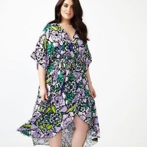 Melissa Mccarthy 7 Floral Wrap Dress NWT
